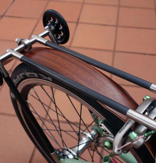 Ti Carbon Rear Rack Bike48 Brompton Ti Custom Parts